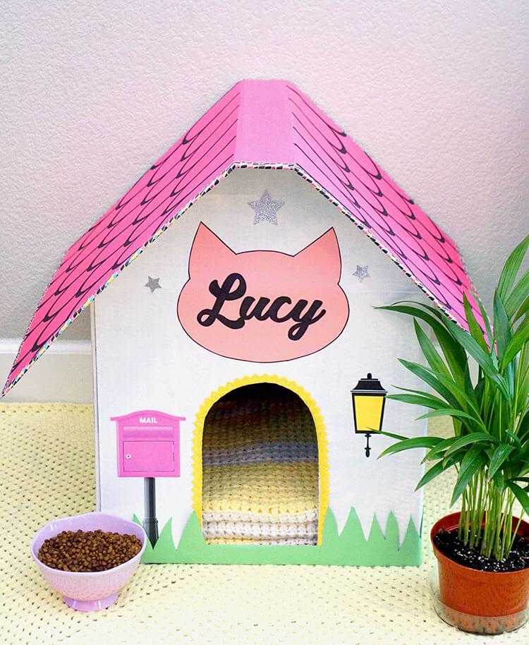 Super-Cute-Cardboard-Cat-House